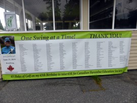 One Swing at a Time Thank You